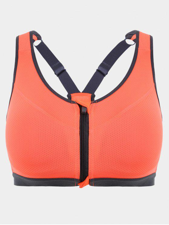buy Padded Front Zipper Y Back Sports Bra - JACINTH S