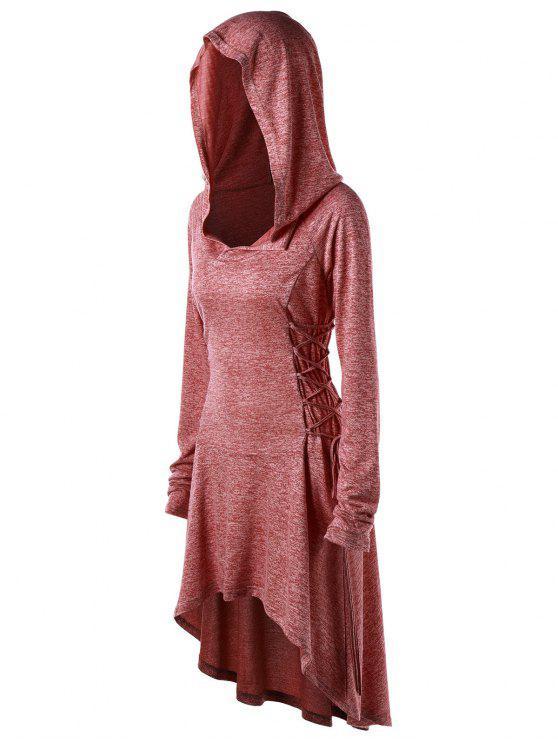 هوديي الحجم الكبير رباط - قرميد احمر 5XL