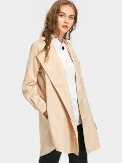 Slim Fit Lapel Coat - Light Apricot S