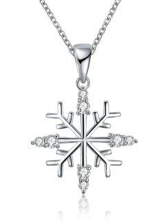 Christmas Snowflake Drop Necklace - Silver
