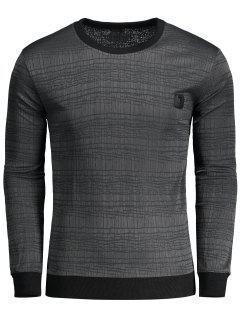 T-shirt à Label - Gris Foncé 2xl
