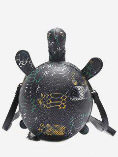Print Turtle Shape Crossbody Bag - Black