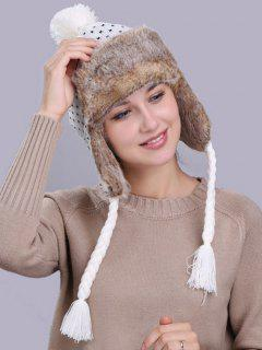 Christmas Snowflake Pattern Thicken Winter Hat - White