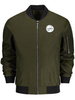Zip Bomber Jacket - Army Green Xl