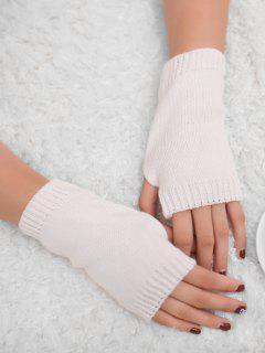 Winter Crochet Fingerless Gloves - White