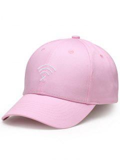 WIFI No Signal Embroidery Baseball Cap - Pink