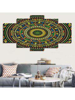 Bohemia Mandala Imprimir Pinturas De Lona Dividida Sin Marco - 1pc:12*31,2pcs:12*16,2pcs:12*24 Pulgadas (sin Capítulo)