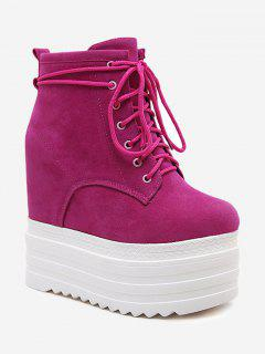 Tie Up Platform Ankle Boots - Tutti Frutti 39/7.5