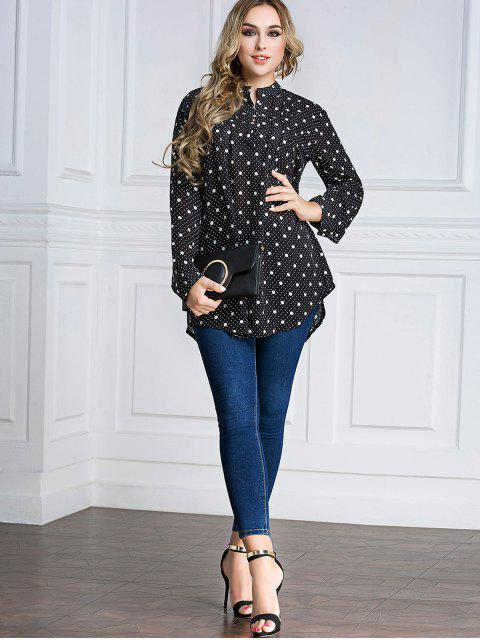latest Polka Dot Chiffon Tunic Top -   Mobile