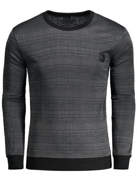 Label verschönert gestreiftes T-Shirt - Dunkelgrau 2XL Mobile