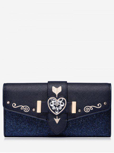 Strass Stickerei Glitter Brieftasche - Blau  Mobile