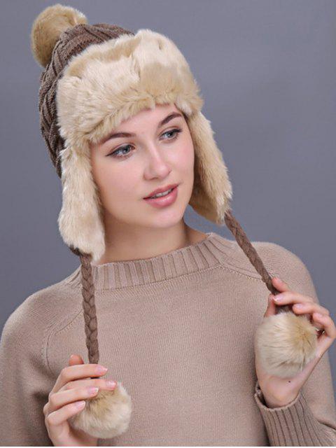 Im Freien überprüftes Muster verdicken Trapper Hut - Khaki  Mobile