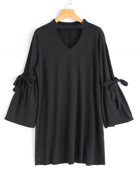 Robe Choker à Noeud Papillon Détaillé - Noir M Mobile