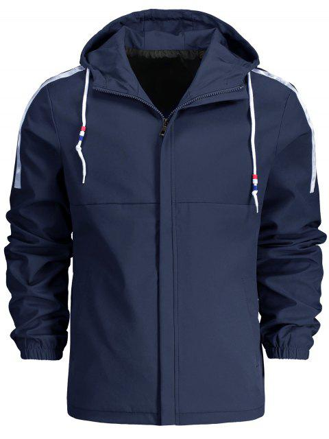 Veste Zippée à Capuche avec Cordon - Bleu XL Mobile