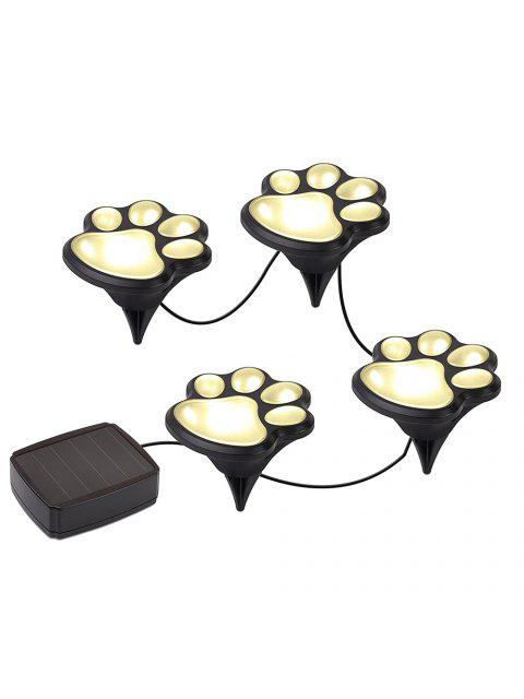 women's Paw Shape Outdoor Solar Garden Lights Set Landscape Lighting -   Mobile