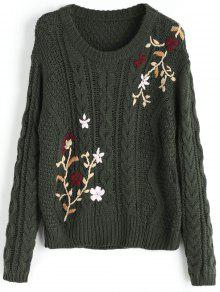 Buy Jacquard Chunky Sweater - ARMY GREEN ONE SIZE