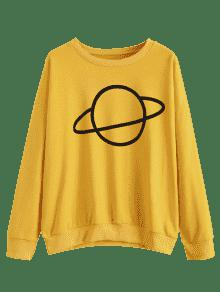 Sudadera Jengibre M Pattern Shoulder Planet Drop qnHF0Cq
