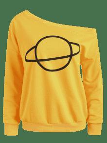 M Shoulder Jengibre Planet Con Capucha One Sudadera 1Yw6q