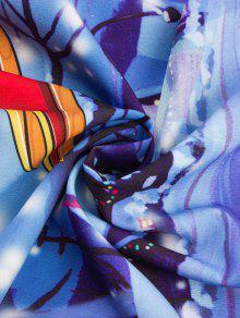 Vestido Azul o Estampado Navide De Encaje Vintage M rRWpcBr
