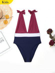 تعادل اللون كتلة طفل ملابس السباحة - عنابي اللون 6t