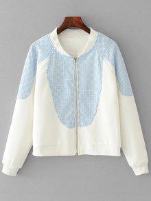 Jaqueta Transparente Contrastante - Branco M