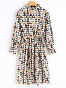 Robe En Velours Côtelé Imprimé Géométrique - Palomino M