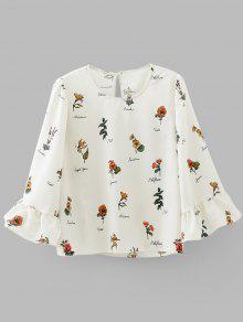 Blusa Com Blusa Blusa Blusa De Fechadura - Floral S