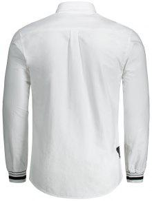 Camisa De Blanco Carta 3xl De Mosca Con Bot Bordado Con 243;n ROwxqRE6r