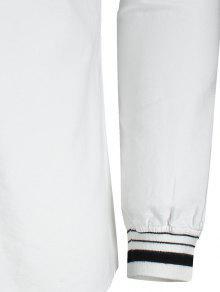 Mosca 3xl Con 243;n Blanco Carta Con De Bordado Camisa De Bot CXqfHFfnw