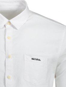 Bordado Camisa Con Mosca Bot Carta De Blanco 243;n Con De 3xl 6a5waq