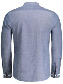Botones Azul Denim Camisa De Alto Xl Cuello gFqwO8xUt