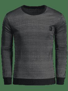 Embellecida Con Oscuro Camiseta Gris 2xl A Etiqueta Rayas EqcqP17pt