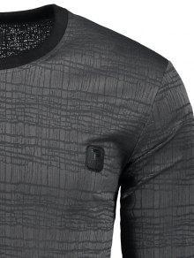 Embellecida A Etiqueta Gris Rayas 2xl Con Camiseta Oscuro qnfxEFE