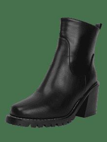 Square Toe Block Heel Ankle Boots - Black 35 buy cheap marketable outlet latest really cheap store aSfnNwM