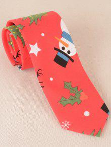 Gravata Do Natal E Dos Padrões Dos Alces Do Natal - Vermelho Melancia