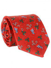 8CM Width Christmas Socks Gravata Com Gravata Personalizada - Vermelho Tinto