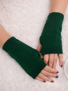 Buy Winter Crochet Fingerless Gloves - BLACKISH GREEN