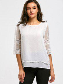 Blusa Feminina Semi Transparente - Branco M