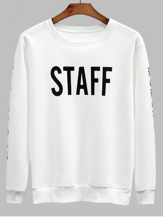 da4c7fad4215 19% OFF  2019 Staff Graphic Crew Neck Sweatshirt In WHITE