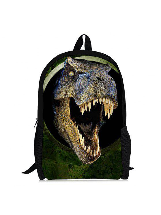 3d الديناصور طباعة الظهر - الأخضر والأبيض والمشمش