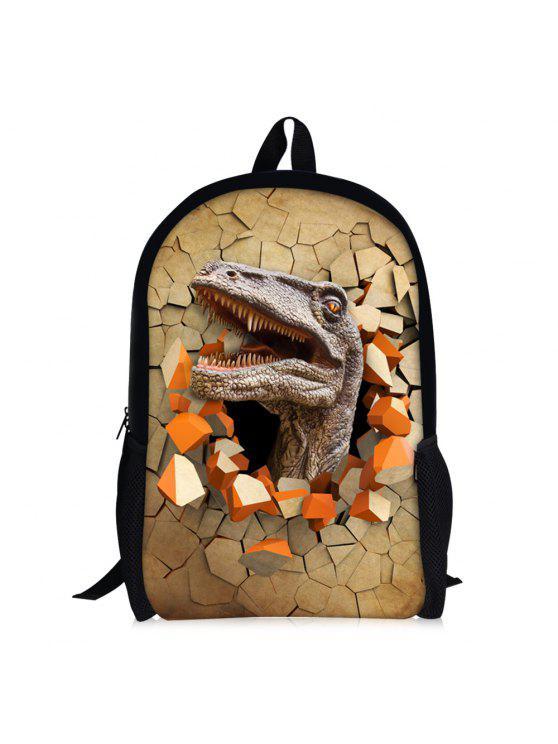 3d الديناصور طباعة الظهر - يميدي