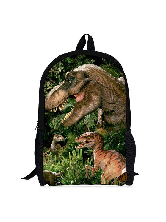3d الديناصور طباعة الظهر - الكريستال الأخضر