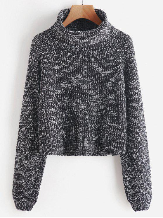 Turtleneck Heathered Pullover Sweater