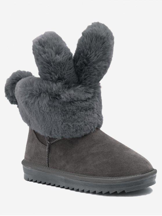Stivali da neve con orecchie di coniglio alla caviglia - Grigio 39