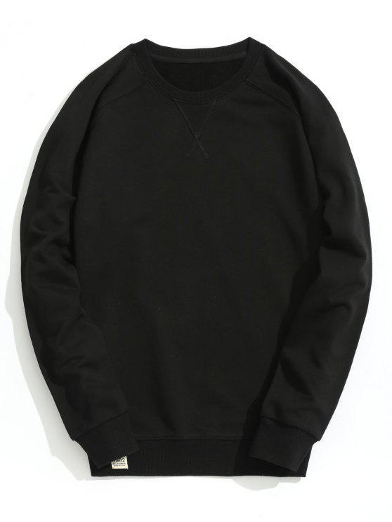 Sudadera con cuello redondo slim fit - Negro XL