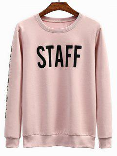 Staff Graphic Crew Neck Sweatshirt - Pink