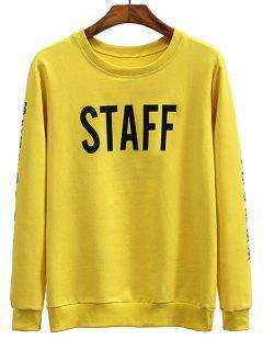 Staff Graphic Crew Neck Sweatshirt - Mustard