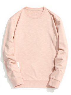 Patch Design Crew Neck Sweatshirt - Pink 3xl