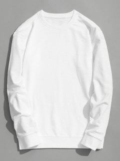 Aufnäher Mit Rundhalsausschnitt - Weiß L