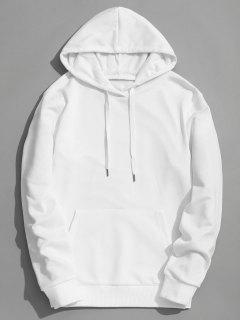 Kangaroo Pocket Plain Hoodie - White Xl